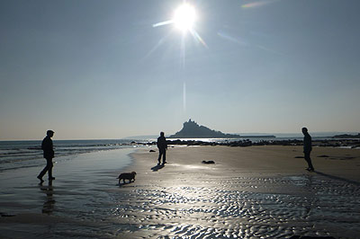 Three star holiday accommodation in Marazion, Cornwall - Beach Photograph